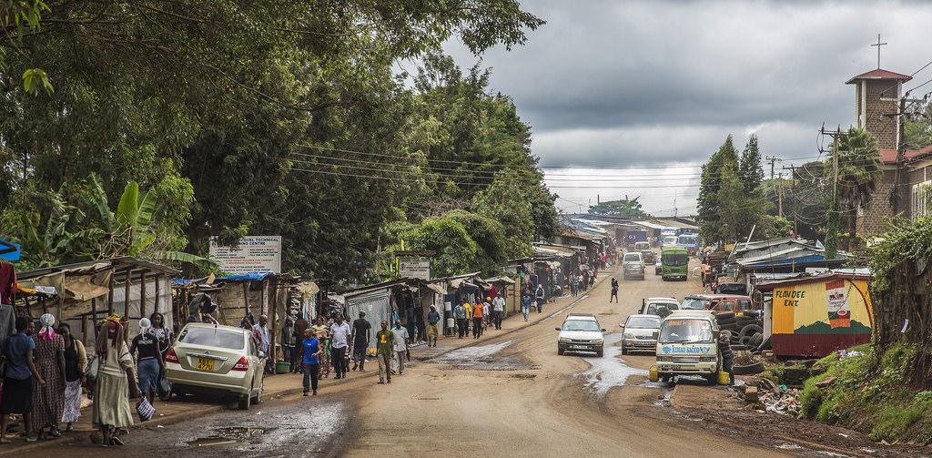 Slechte wegen in Kenia