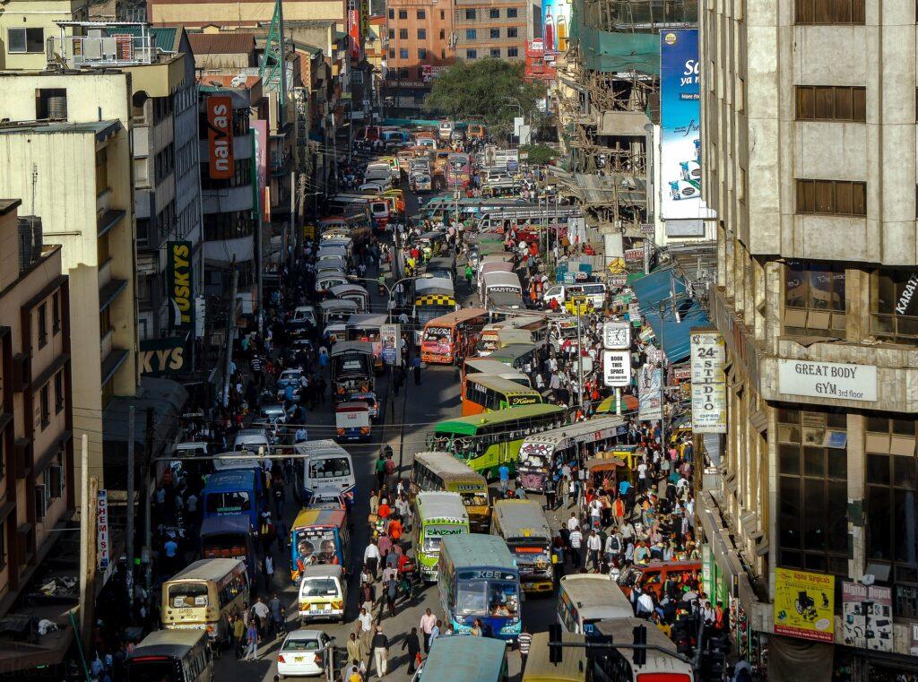 Drukte in Nairobi