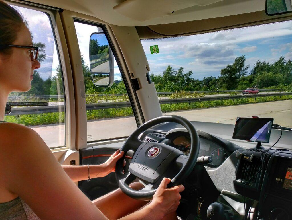Mobile home of camper, het rijdt lekker op goede banden