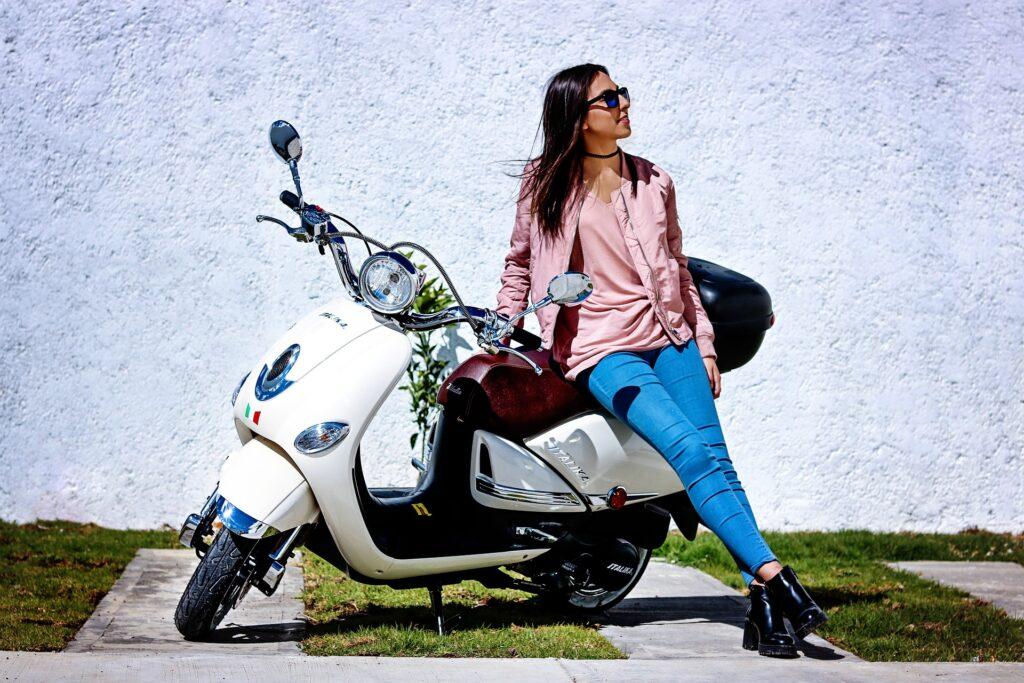 lekke scooter band plakken